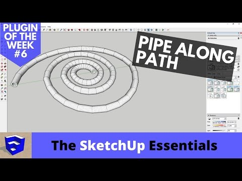 Create Pipes Along Any Path in SketchUp with Pipe Along Path