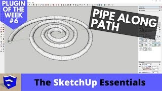 Create Pipes Along Any Path in SketchUp with Pipe Along Path - Plugin of the Week #6