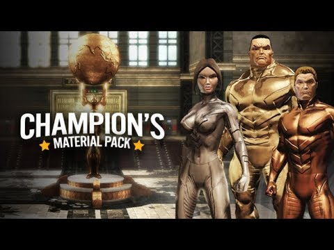 DCUO | Champion's Material Pack Review! GOLD, SILVER and BRONZE!