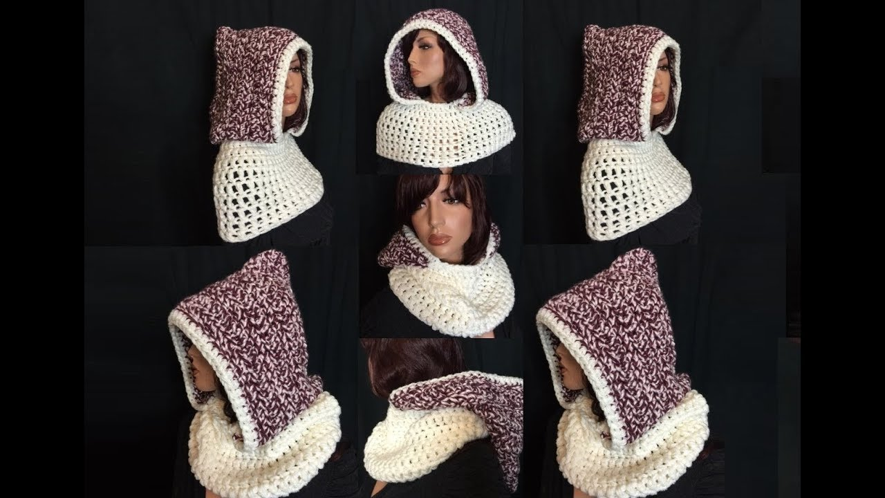 How to crochet a hooded cowl pattern 21by thepatterfamily youtube bankloansurffo Images