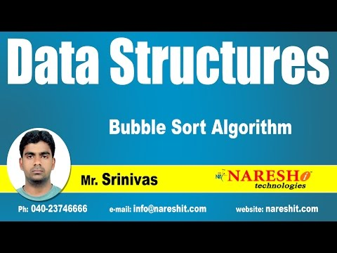 Bubble Sort Algorithm | Data Structures | by Mr. Srinivas