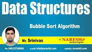 Bubble Sort Algorithm | Data Structures | by Mr. Srinivas