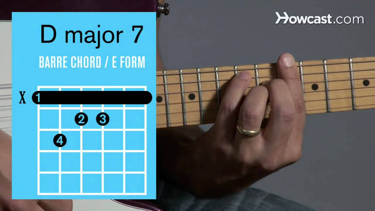 How To Play A D Major 7 Barre Chord Guitar Lessons Youtube