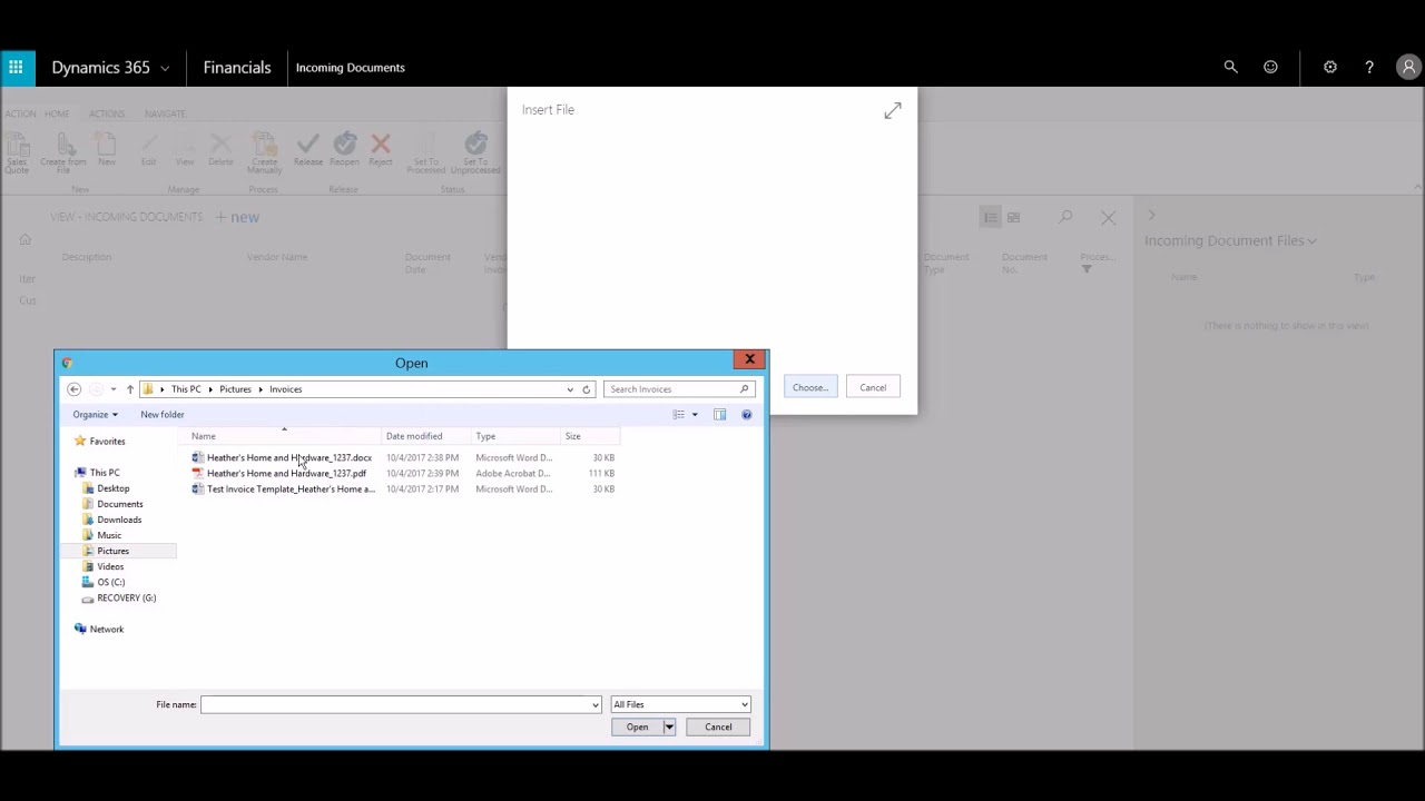 using ocr invoicing services in microsoft dynamics 365 youtube
