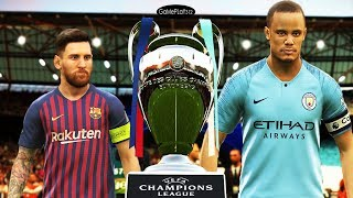 PES 2019 - Manchester City vs Barcelona - Final UEFA Champions League UCL - Messi vs Aguero