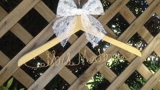 DIY Name Hanger
