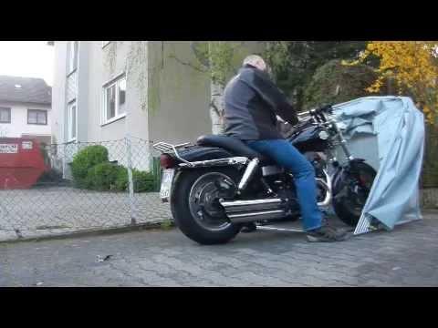 Motorrad Garage Schutzplane Zelt - YouTube