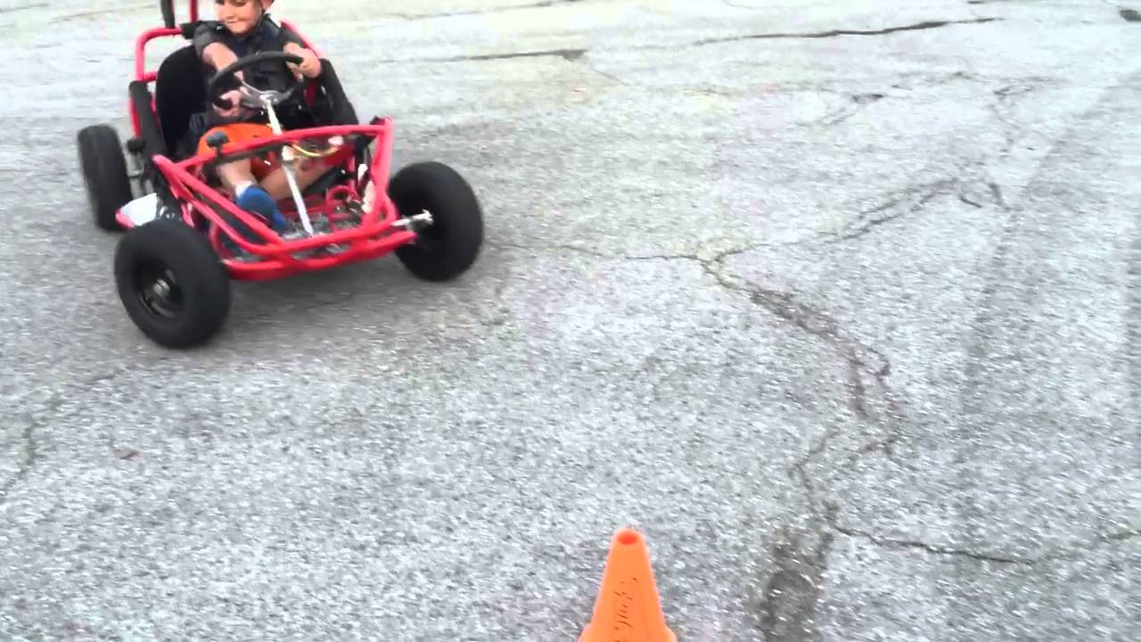 1000 Watt Electric Tesla Of Go Kart Review And Fix For Turning Issue
