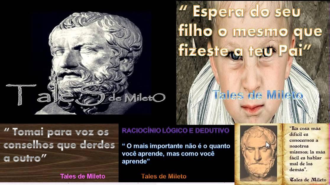 05 História Da Matemática Frases De Tales De Mileto
