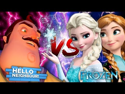 FROZEN ELSA VS HELLO NEIGHBOUR! BOYS VS GIRLS! Minecraft LittleKelly w/Carly,Sharky&ScubaSteve