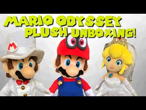 Mario Odyssey Wedding Mario and Peach Plush Unboxing!