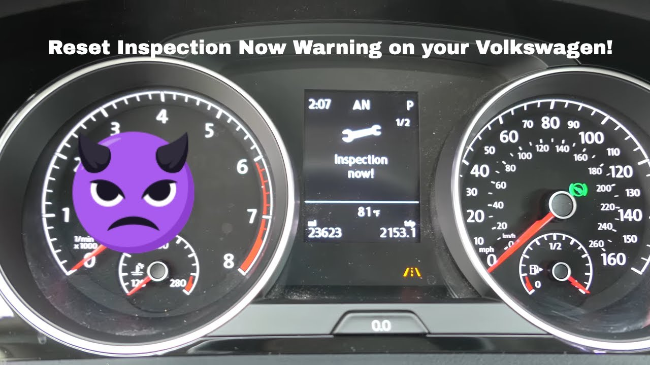 volkswagen reset inspection  error  mk golf gti sportwagen  youtube