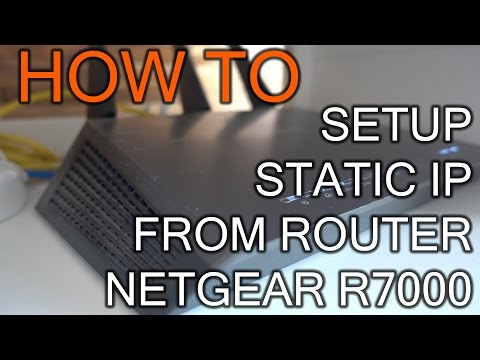 How to Setup Static IP Address From Router Netgear R7000 - YouTube