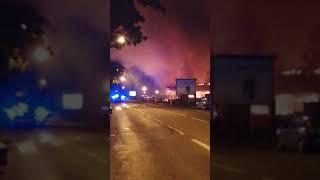 Incendie à mulhouse dans un dépôt de marchandises gare du nord