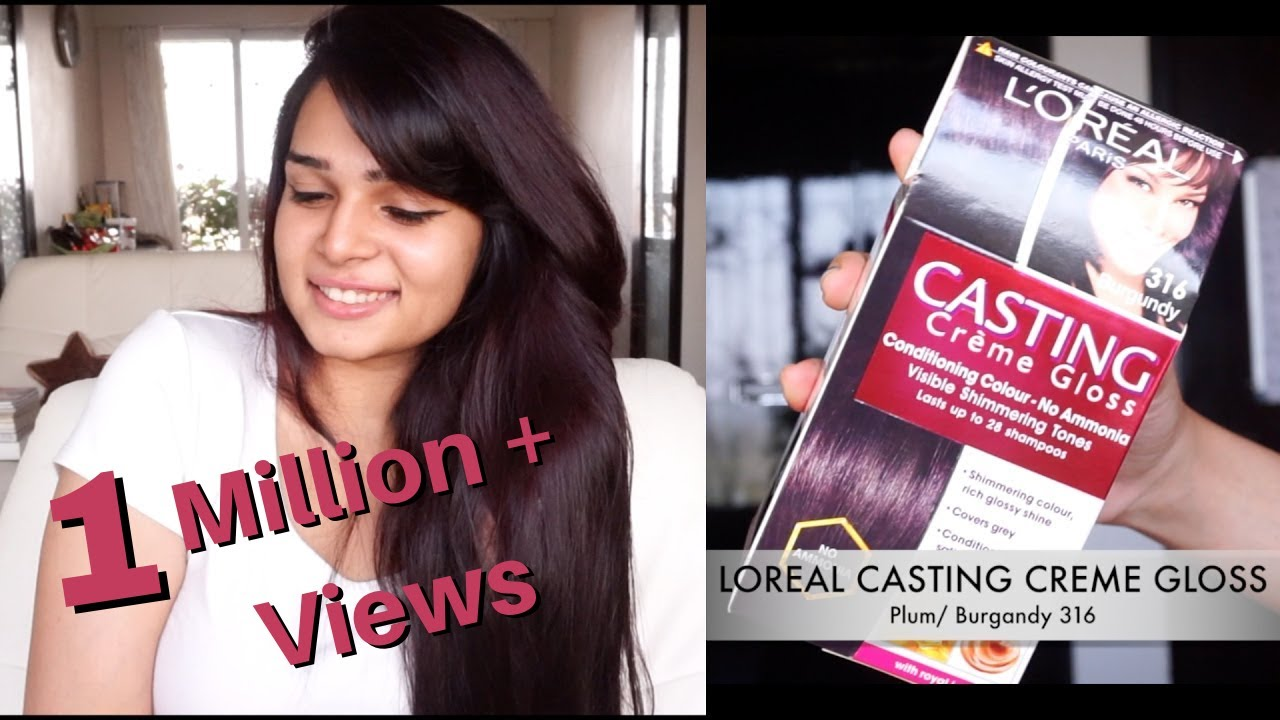 How To Color Your Hair At Home Loreal Casting Creme Gloss Plum
