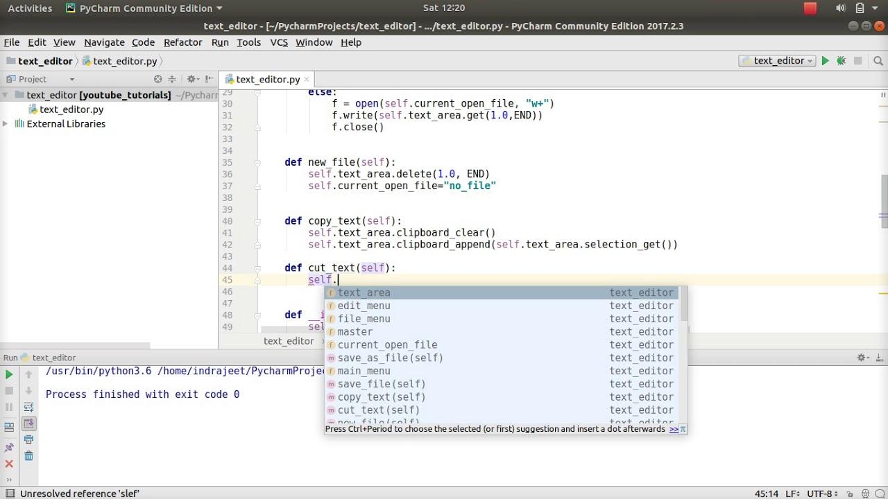 Python GUI Tutorial - 51 - text editor - copy,cut,paste