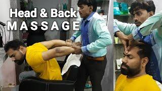 ASMR Indian head massage with neck cracking.