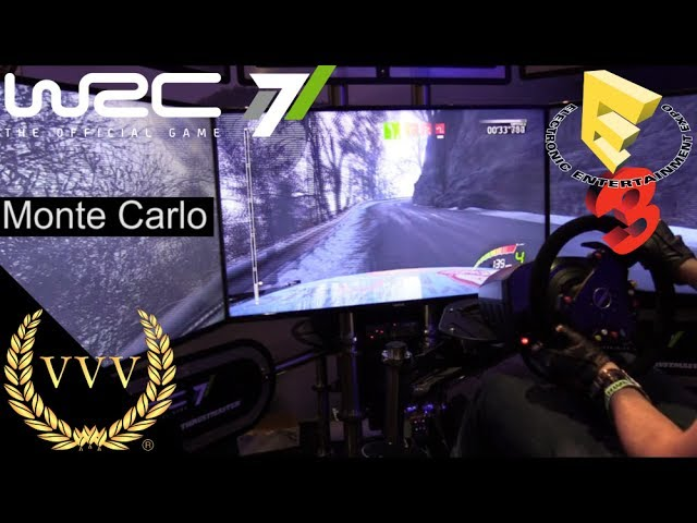 WRC 7 Triple Screen Gameplay - Monte Carlo