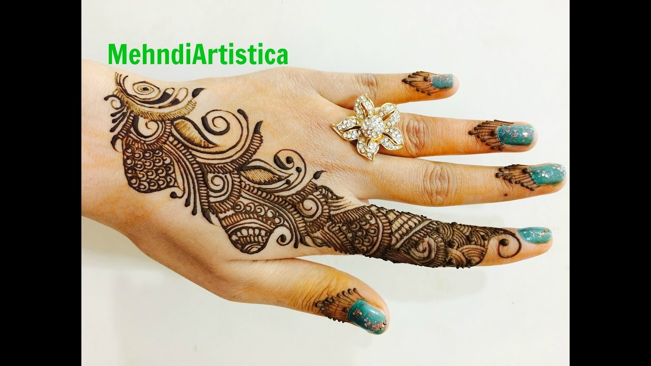 Mehndi For Thin Hands : Diy simple easy beautiful arabic mehndi design for hands