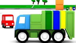 МАШИНКИ мультики для мальчиков. 4 машинки и мусоровоз. Мультики про машинки все серии подряд