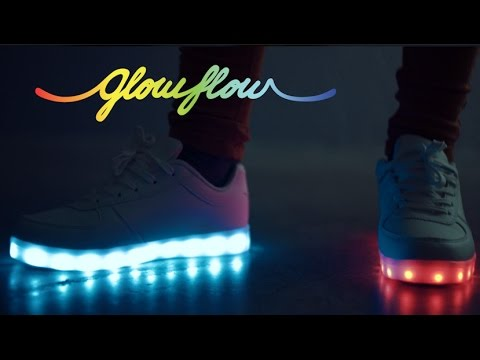 3ce0fcc0237 GlowFlow LED Trainers - YouTube