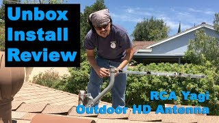 RCA Yagi Outdoor HD Antenna Unbox - Install - Review Cord Cutter