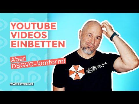 YouTube Videos einbetten - aber DSGVO-konform!
