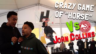 "CRAZIEST ""H.O.R.S.E."" Game Vs NBA Rising Star John Collins!!"