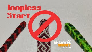 Loopless Starts for friendship bracelet projects