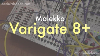 Malekko Varigate 8+: В-Глибина Відео Інструкції