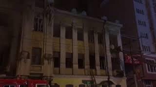 В Саратове загорелся дом Яхимовича