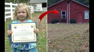 """When This Four Year Old Saw A Man """"Sleeping"""" On A Bathroom Floor, She Knew She Had To Run For Help"""