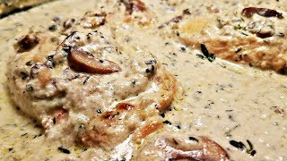 Creamy Garlic Mushroom Chicken Recipe | One Pan Chicken Recipe | Garlic Herb Mushroom Cream Sauce
