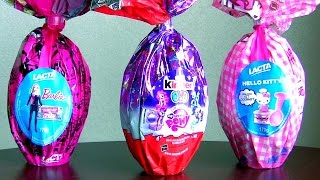 Giant Easter Eggs Kinder My Little Pony Hello Kitty from Disney Collector Childrens Toys Surprise