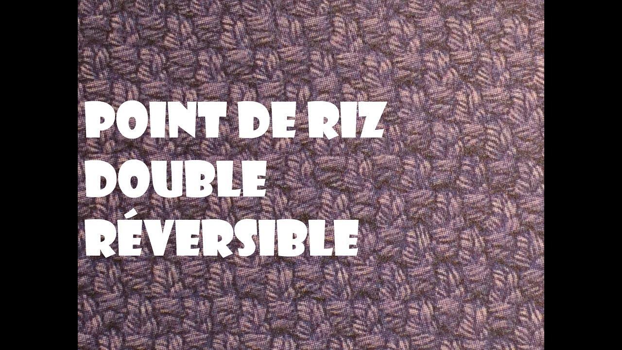 Point De Riz Double Réversible
