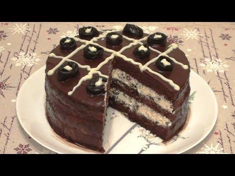 """Очень вкусный и простой в приготовлении торт """"Шоколадное наслаждение""""."""