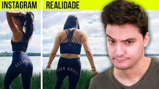 Fotos da internet vs. Realidade! Veja a verdade...