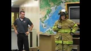 Firefighter proposes to teacher