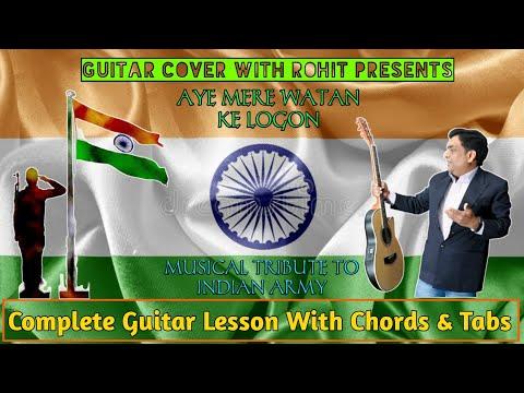 aye-mere-watan-ke-logon-(original-version-1963)- -guitar-cover-with-tabs- -lata-mangeshkar- -rohit-s