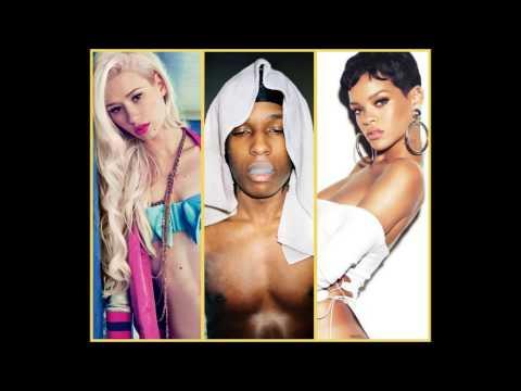Rihanna x ASAP Rocky x Iggy Azalea  Cockiness Remix Mashup