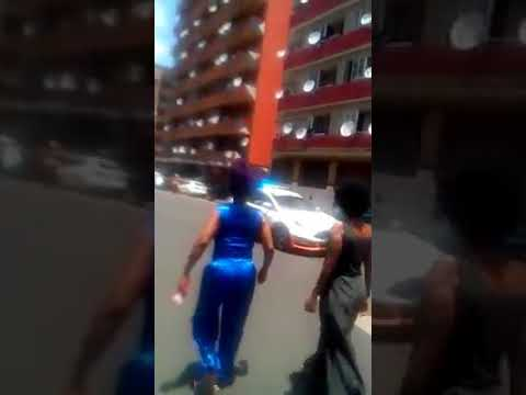 FOOTAGE OF CHURCH GOERS ATTACKING JMPD IN JHB CBD EARLIER