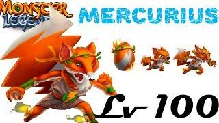 Mercurius 1-100 Monster Legends монстр на прокачку