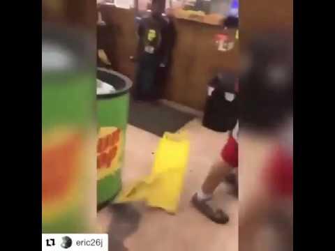 BLACK GUY FIGHTS WHITE GUY IN STORE