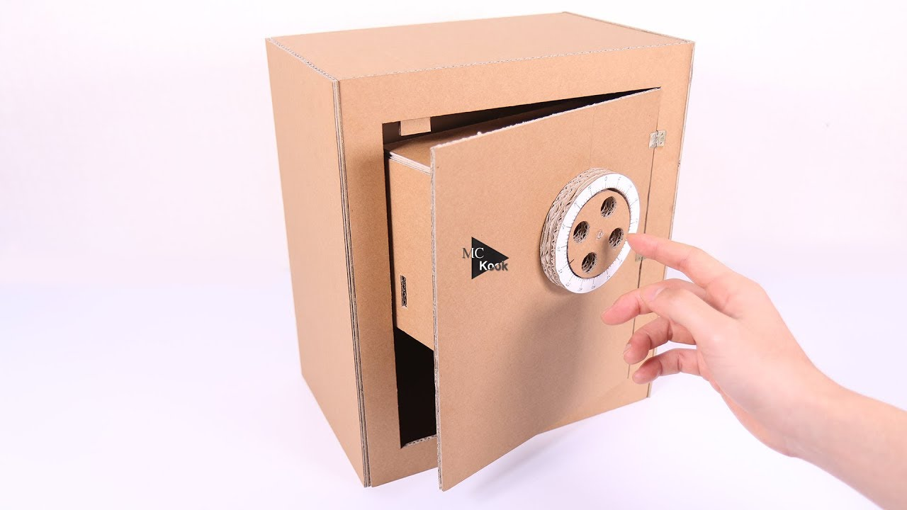 How to Make Safe with Combination Lock - Cardboard Toy