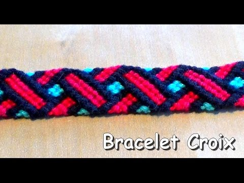 DIY Friendship bracelet Cross Pattern (intermediate level)
