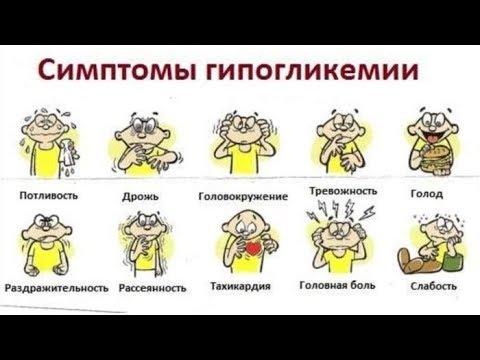 Сиптомы ГИПОГЛИКЕМИИ (резкое СНИЖЕНИЕ САХАРА в крови) / Фролов Ю.А.