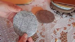 Как сделать картонное дно для будущих корзин.Плетение из газет.