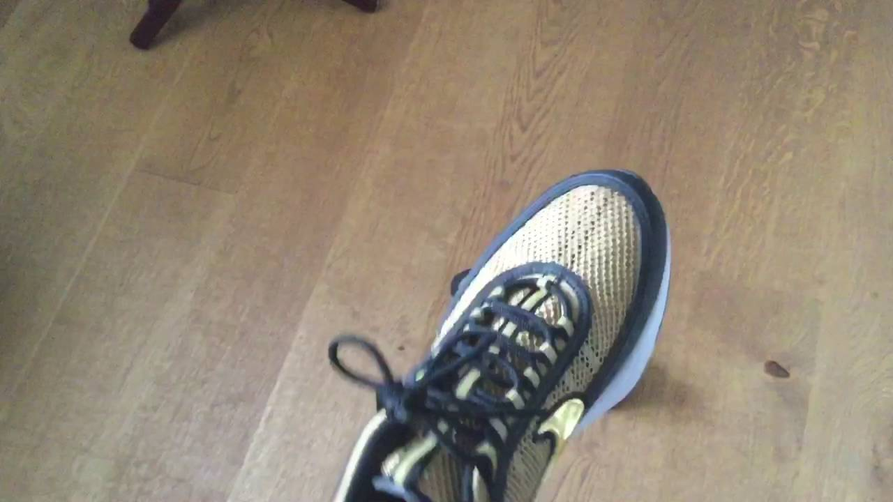 bb767f8d417d Nike air zoom spiridon metallic gold and black  hands on