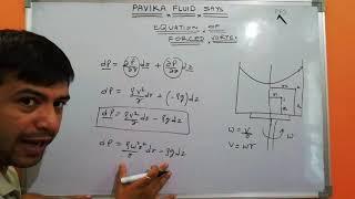 Equation of forced vortex flow