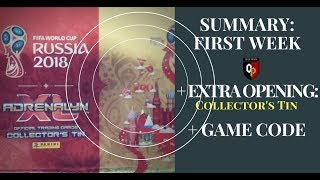 Panini adrenalyn EXTRA OPENING (COLLECTOR'S TIN)! + Summary First Week, Fifa World Cup 2018 Russia